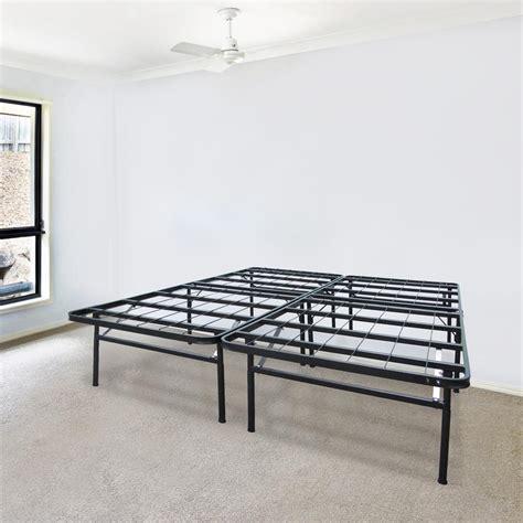 california king metal bed frame biopedic infiniflex california king metal bed frame 45215 the home depot