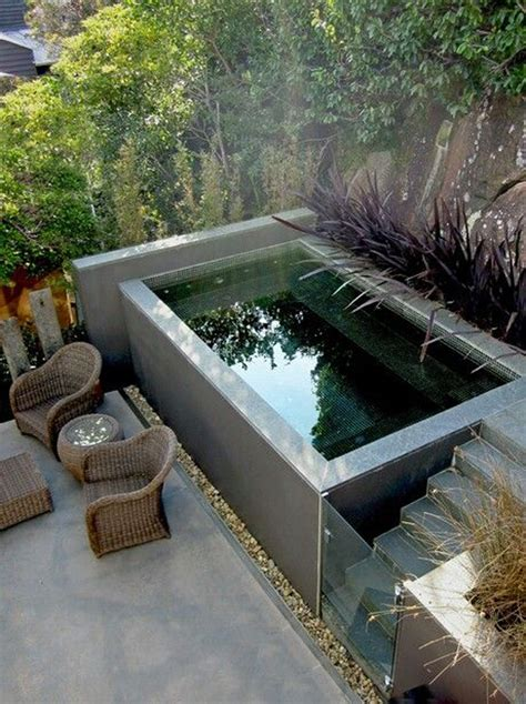 backyard small pools small plunge pool for small backyard