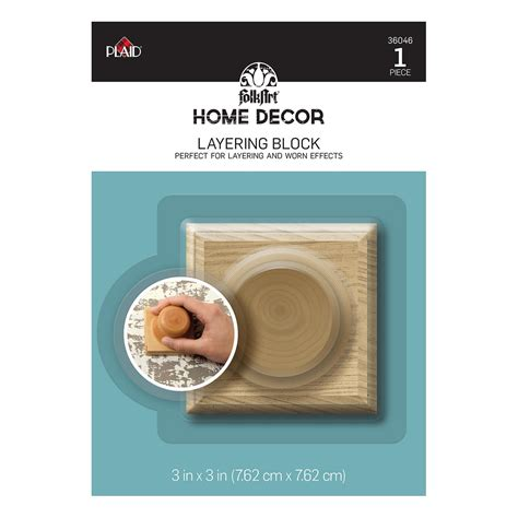plaid home decor layering block perfect for layering and folkart 174 home decor tools layering block 36046