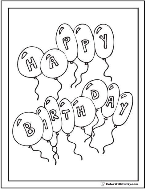customizable happy birthday coloring page 55 birthday coloring pages customizable pdf