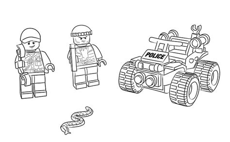 coloring pages lego police 60065 atv patrol coloring pages lego 174 city lego com us
