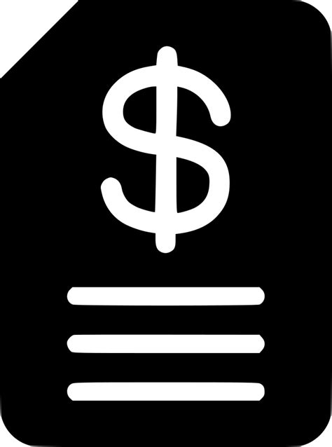 budget invoice svg png icon