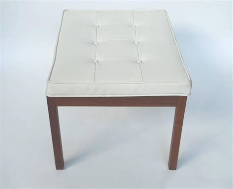 white benches for sale 1960s white vinyl tufted bench by hibriten chair co for
