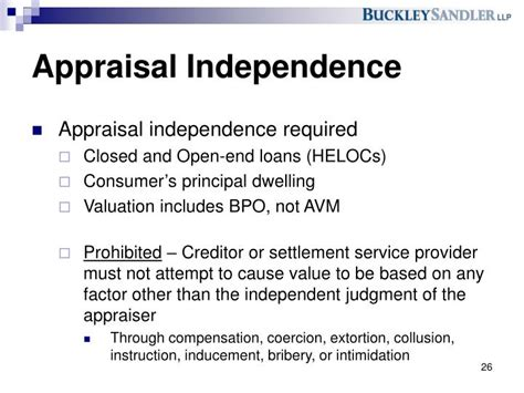 Tila Section 130 by Ppt Foreclosure Update And New Appraisal Regulations