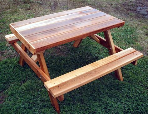 swinging picnic table cedar creek woodshop porch swing patio swing picnic