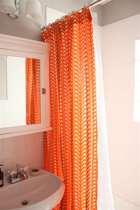 Orange Shower Curtains by Orange And Blue Shower Curtains Myideasbedroom