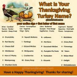 thanksgiving names what is your thanksgiving turkey name glitter amp bruises