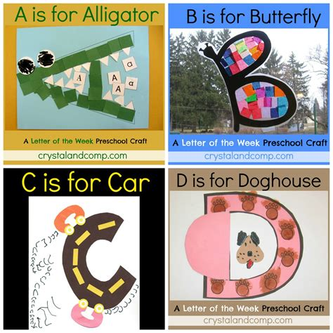 preschool activities and crafts letter of the week crafts