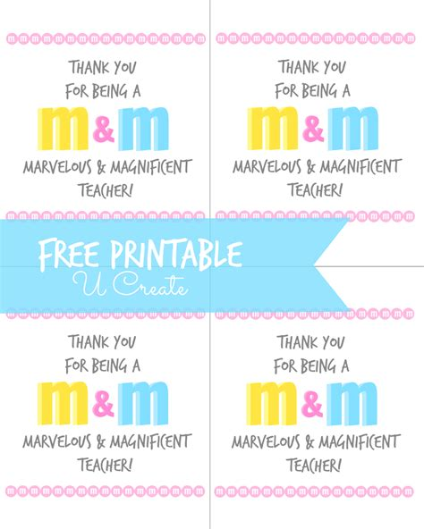 printable teacher appreciation tags m m teacher appreciation printable u create