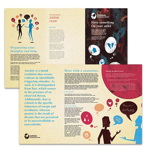 Counselling Brochure Brochures Ready Made Office Templates Counseling Brochure Templates