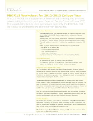 Css Profile Worksheet by Css Profile Pdf Fill Printable Fillable Blank