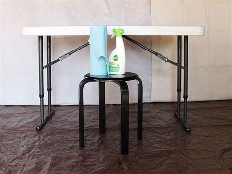 Diy Fold Table by Upcycle A Plastic Folding Desk Into A Chic Desk How Tos Diy