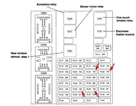2005 ford taurus fuse box diagram 2005 ford taurus radio fuse wiring diagram with description