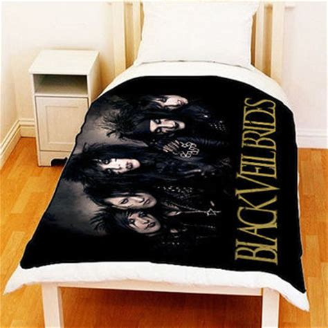 black veil brides fleece blanket bed from ilovepop on etsy