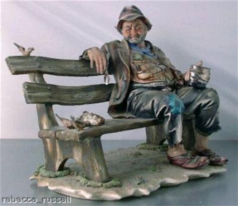 capodimonte old man on bench c1950 lge capodimonte figurine tr on bench birds