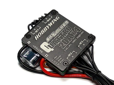 Esc Hobbywing Skywalker 20a Rc Brushless Speed Controller Pesawat hobbywing skywalker quattro rc model 20a x4 brushless speed controller esc sl011 speed