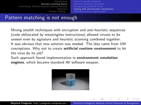 pattern matching vs polymorphism artificial intelligence methods in virus detection