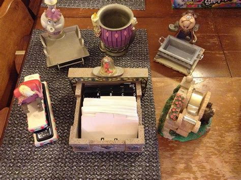 And The Beast Desk Set the disney collector s time capsule and the beast