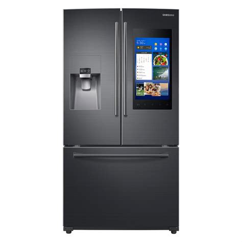 samsung fridge samsung 24 2 cu ft family hub door smart refrigerator in black stainless rf265beaesg