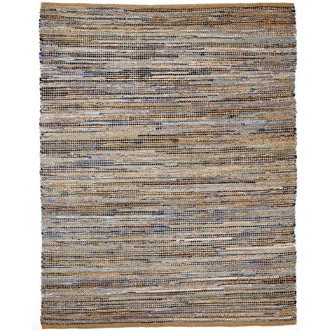 Jute Area Rugs Anji Mountain American Graffiti 8 Ft X 10 Ft Denim And Jute Area Rug Amb1032 0810 The Home Depot