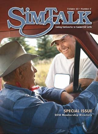 2014 simtalk membership directory by american simmental
