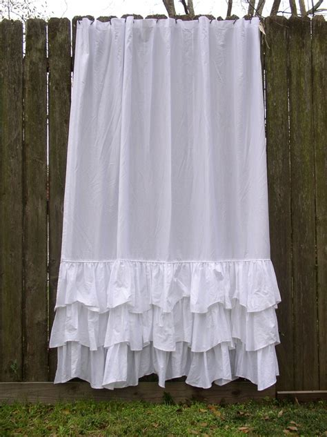 ruffle bedroom curtains ld linens 74x90 lulu shower curtain available in linen or