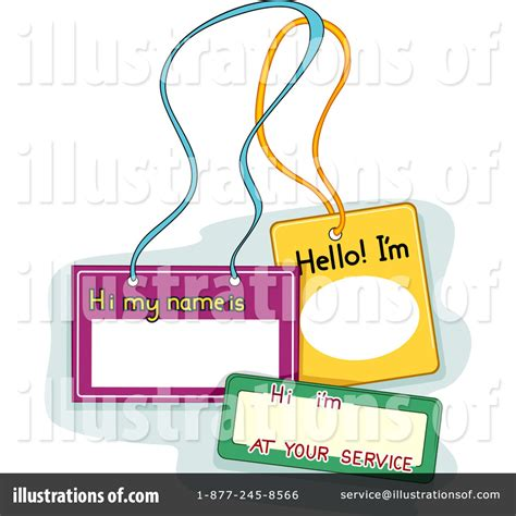 name tag design clipart name tags clipart 1092936 illustration by bnp design studio