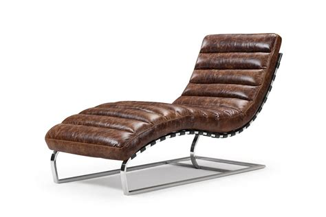 Leather Chaise Chair by The Leather Chaise Lounge And