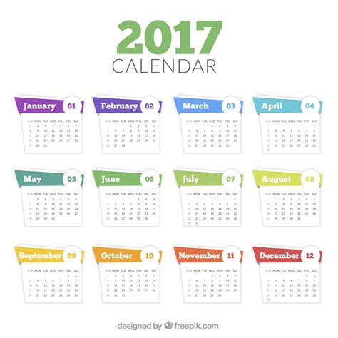 2018 Monthly Calendar Template Psd