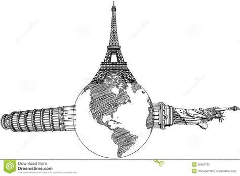 Pisa Kontrollturm Eiffelturm Und Freiheitsstatue Statue De La Liberte Coloriage L