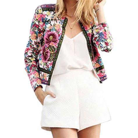 Blouse Parka new floral parka blazer suit outwear blouse coat overcoat jacket ebay