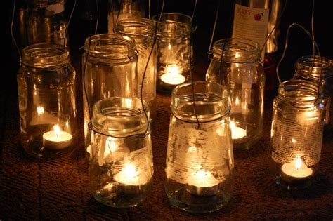 simple diy rustic hanging mason jar candle holder lanterns