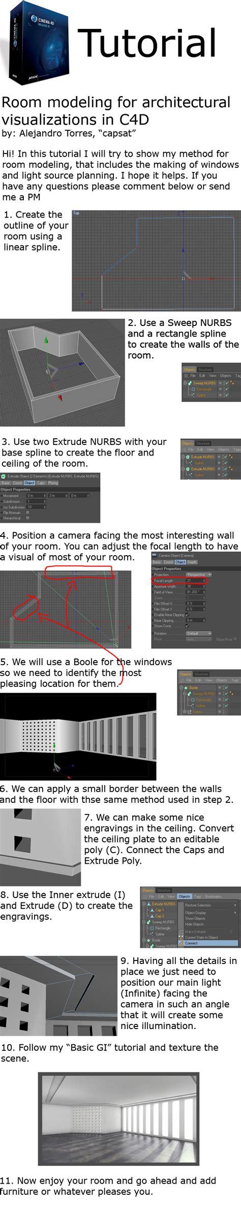 room modeling room modeling c4d tutorial r10 by capsat on deviantart