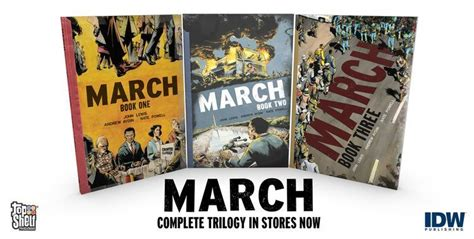 march book two march holds top three spots on new york times bestsellers