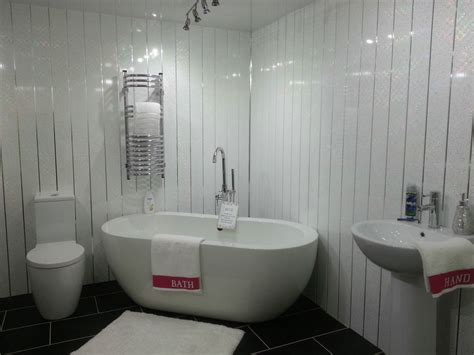 White Pvc Cladding For Bathrooms by 4 White Sparkle Chrome Wall Panels Pvc Waterproof