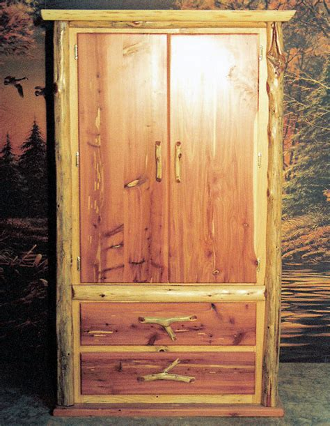 Cedar Armoire by Cedar Armoire Point Furniture The Log