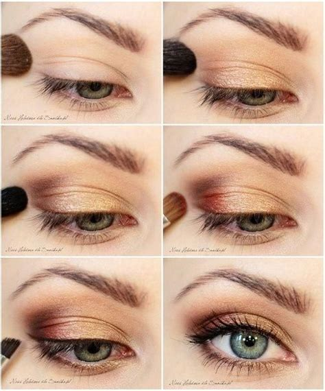 eyeliner tutorial for school 10 gold smoky eye tutorials for fall pretty designs