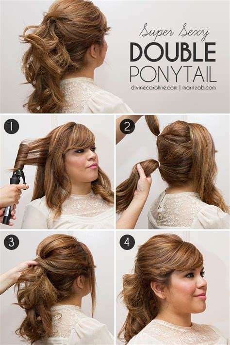 quick and easy hairstyles in a ponytail super sexy double ponytail double ponytail ponytail and
