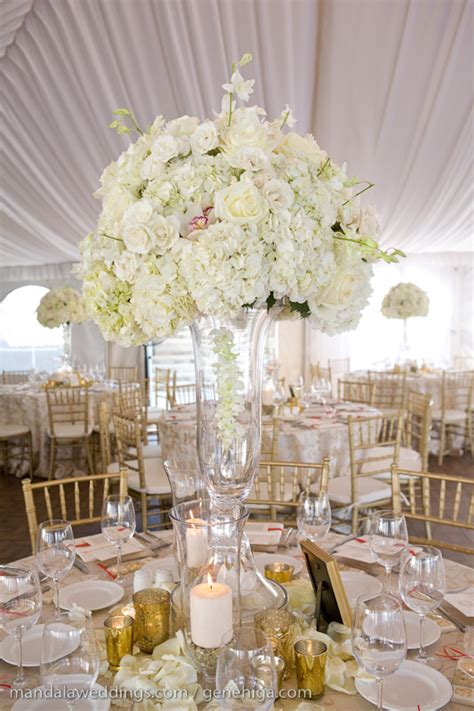tall white flower wedding centerpieces wedding and