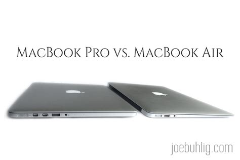 Mba Vs Mbp Programming by Macbook Pro Vs Macbook Air