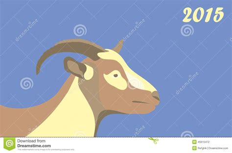 new year goat symbolism new year goat 2015 stock vector image of