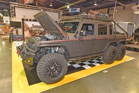 hellcat engine jeep hellhog a 754 hp hellcat powered wrangler 6x6