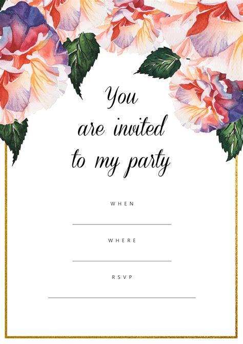 All Free Invitations Free Printable Invites For All Occasions Printable Invitation Template