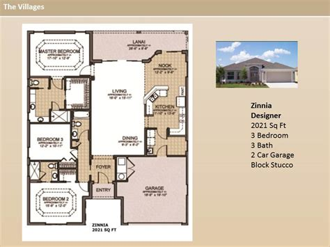 the villages homes designer homes zinnia model
