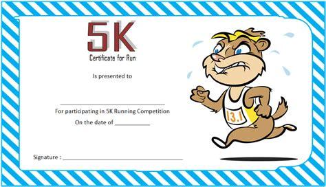 running certificates templates free 5k certificate template best 10 templates