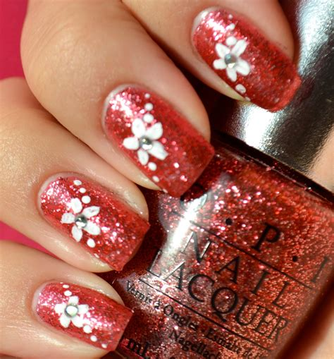 easy nail art glitter nail art designs 2014 ideas images tutorial step by step