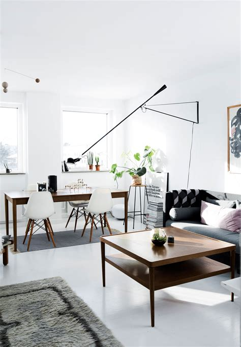 danish living room living room industrial with wall mural decordots vintage meets modern in a danish apartment