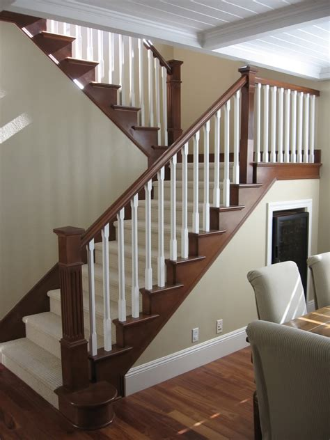 Staircase Update Ideas Maybe To Update Stair Railing To Complement Mocha Hardwood Floors New Home Ideas Pinterest