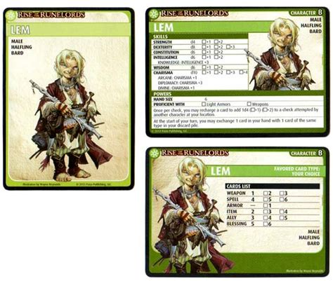 playmobil character card template pathfinder adventure card rise of the runelords