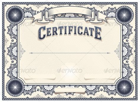 empty certificate template 10 blank certificate template psd word eps and indesign